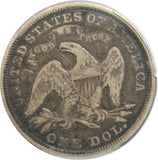 1873 $1 Seated Liberty Dollar PCGS F12