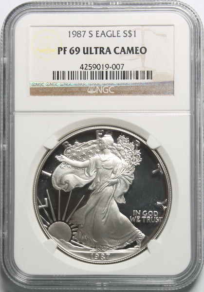 1987 S American Silver Eagle NGC PF69UCAM