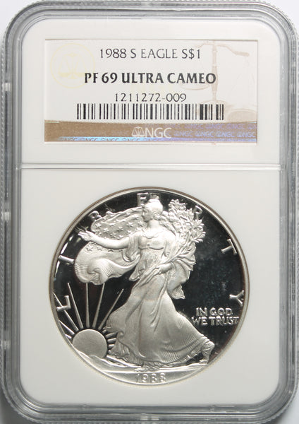 1988 S American Silver Eagle NGC PF69UCAM