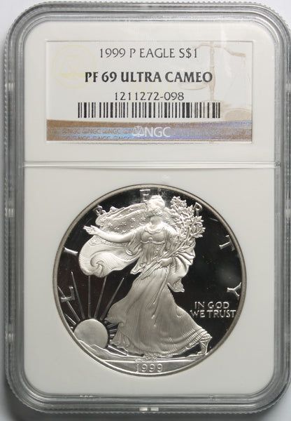 1999 P American Silver Eagle NGC PF69UCAM