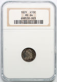 1829 H10C Capped Bust Half Dime NGC MS64