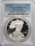 2012-W $1 American Silver Eagle Limited Edition Proof Set PCGS PR70DCAM LOW POP