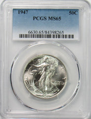 1947-P 50¢ Walking Liberty Half Dollar PCGS MS65