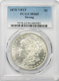 1878 7/8TF $1 Morgan Silver Dollar PCGS MS65 Strong
