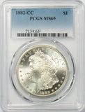 1882 CC $1 Morgan Silver Dollar PCGS MS65
