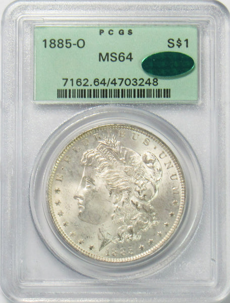 1885 O $1 Morgan Silver Dollar PCGS MS64 CAC
