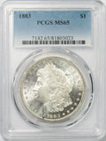 1883 $1 Morgan Silver Dollar MS65 PCGS