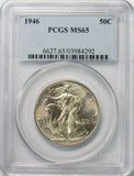 1946 50¢ Walking Liberty Half Dollar PCGS MS65