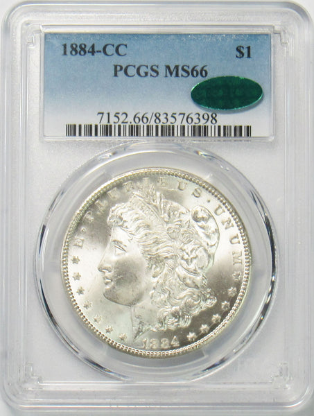 1884 CC $1 Morgan Silver Dollar PCGS MS66 CAC Approved