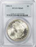 1882 S $1 Morgan Silver Dollar PCGS MS65