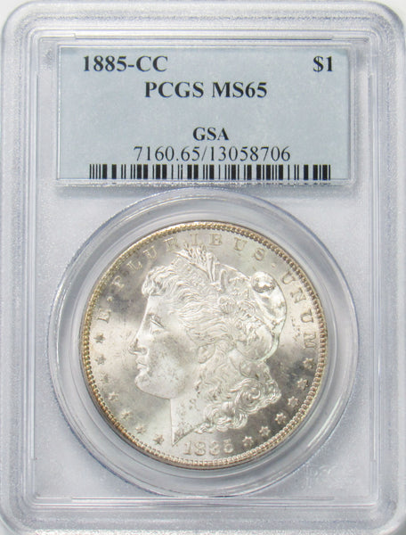 1885 CC $1 Morgan Silver Dollar PCGS MS65 - GSA