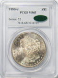 1880 S $1 Morgan Silver Dollar PGCS MS65 CAC