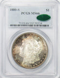 1880 S $1 Morgan Silver Dollar PCGS MS66 Toned CAC APPROVED