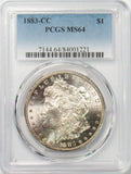1883 CC $1 Morgan Silver Dollar PCGS MS64