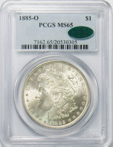 1885 O $1 Morgan Silver Dollar PCGS MS65 CAC