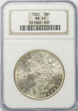 1882 P $1 Morgan Silver Dollar NGC MS65