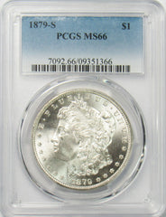 1879 S $1 Morgan Silver Dollar PCGS MS66