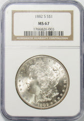 1882 S $1 Morgan Silver Dollar NGC MS67