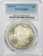 1879 S $1 Morgan Silver Dollar PGCS MS65