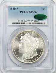 1880 S $1 Morgan Silver Dollar PGCS MS66 CAC