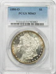 1880 O $1 Morgan Silver Dollar PGCS MS63