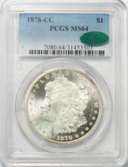 1878 CC $1 Morgan Silver Dollar PCGS MS64 CAC