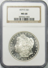 1879 S $1 Morgan Silver Dollar NGC MS68