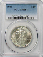 1946 50¢ Walking Liberty Half Dollar PCGS MS64