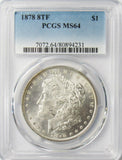 1878 8TF $1 Morgan Silver Dollar MS64 PCGS