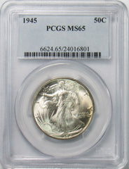1945 50¢ Walking Liberty Half Dollar PCGS MS65