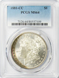 1881-CC $1 Morgan Silver Dollar MS64 PCGS