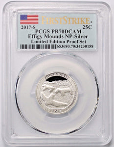 2017-S 25C Effigy Mounds NP Limited Edition Proof Set First Strike PCGS PR70DCAM
