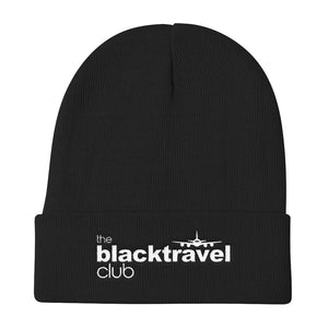 Black Travel Club Beanie