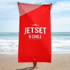 Jetset & Chill Beach Towel