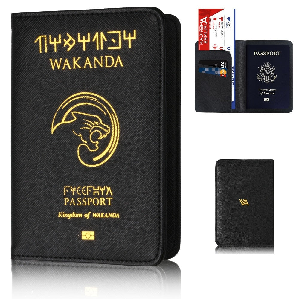 Wakanda Passport Wallet (RFID Blocking)