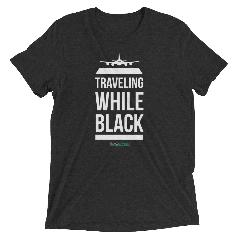 Unisex Traveling While Black Tee