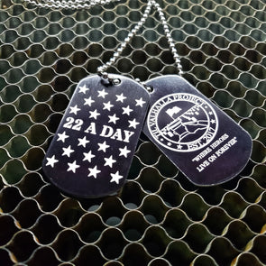 22 A Day Awarness Dog Tag