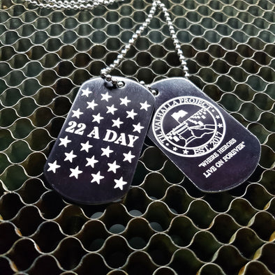 22 A Day Awareness Dog Tag