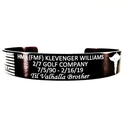 HM3 (FMF) Klevenger Williams Memorial Bracelet