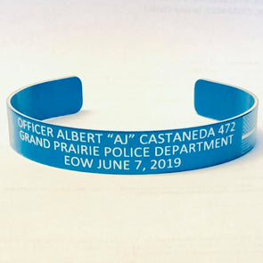 "Officer Albert ""AJ"" Castaneda Memorial Bracelet"
