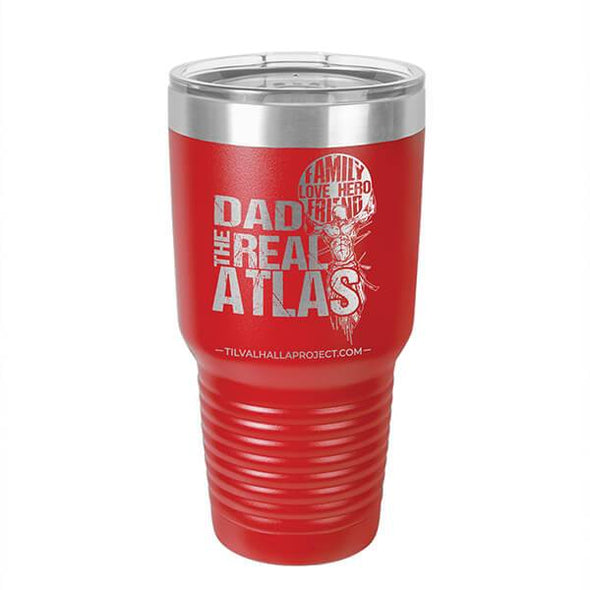 Dad The Real Atlas - Laser Etched Tumbler