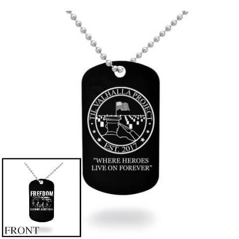 Freedom Is Earned Dog Tag