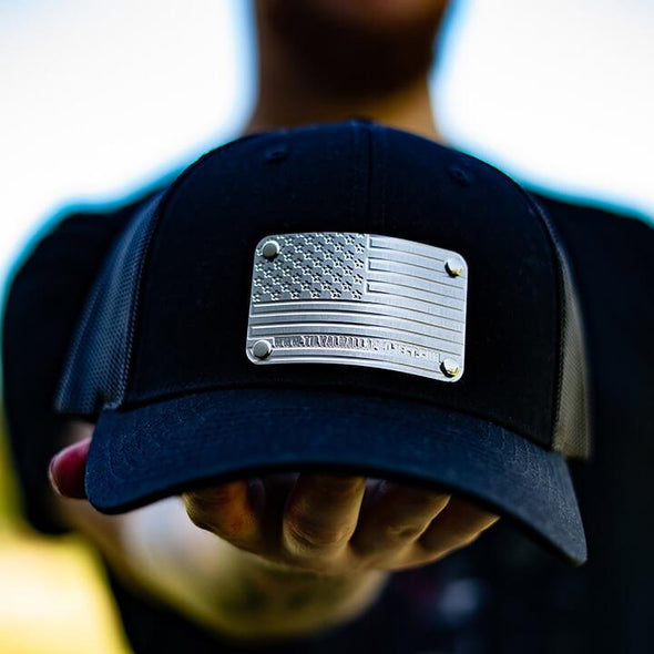 American Flag - Steel Plated Hat