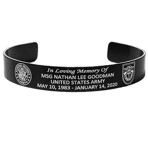Msg Nathan Lee Goodman Memorial Bracelet