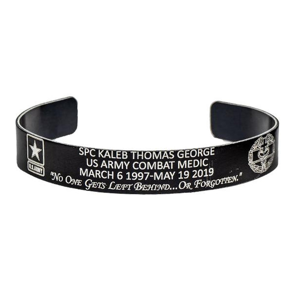 SPC Kaleb Thomas George Memorial Bracelet