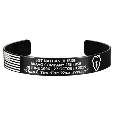Sgt Nathaniel Irish Memorial Bracelet