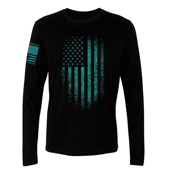 Distressed Flag - Long Sleeve
