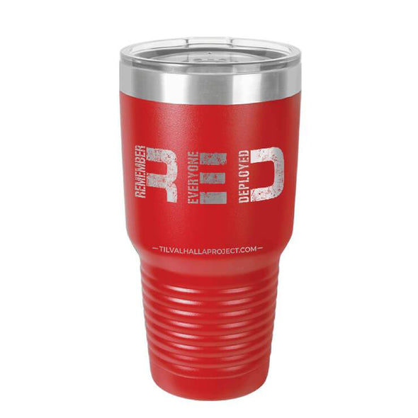 RED - Laser Etched Tumbler