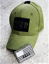 Military Green Tactical T.V.P. Hat w/ PVC Rubber Patch