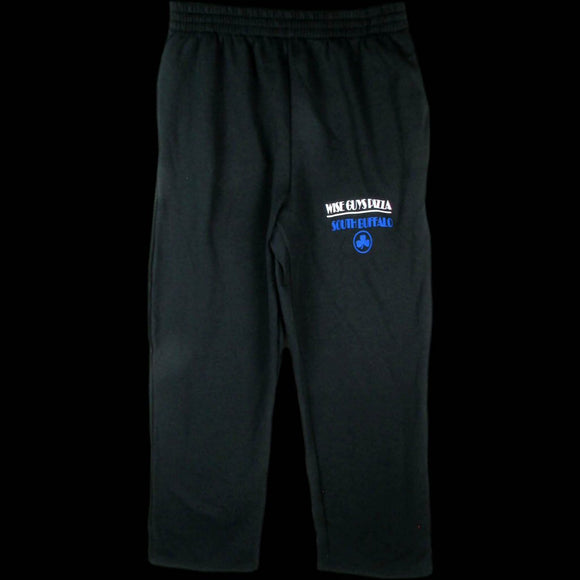 Black Sweatpants with Blue Logo
